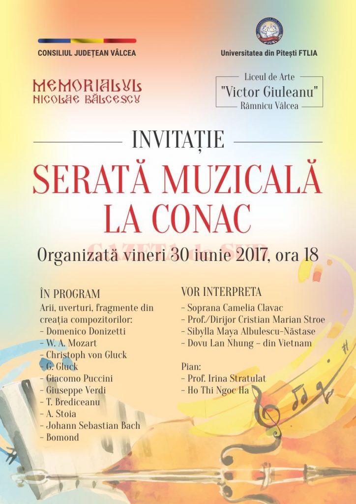 Invitatie - Serata Muzicala