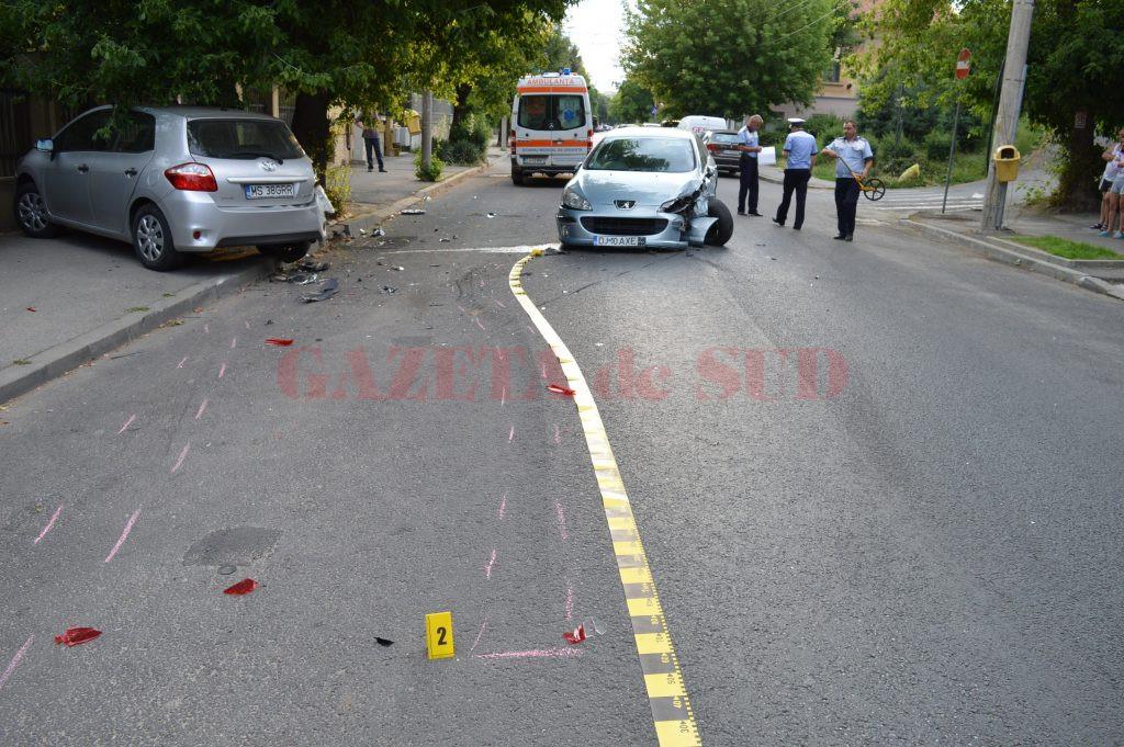 O femeie a fost grav rănită în urma accidentului provocat de craioveanul de 33 de ani