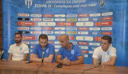 Jucătorii și staff-ul tehnic al Craiovei nu neglijează meciul cu ilfovenii (Foto: Alexandru Vîrtosu)