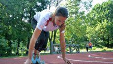 Cu toate că nu se antrenează pe o pistă omologată de atletism, Vanessa Balaci şi-a propus obiective îndrăzneţe la Mondiale (Foto: Bogdan Grosu)