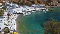 16299394 - loutro bay summer resort at crete island in greece