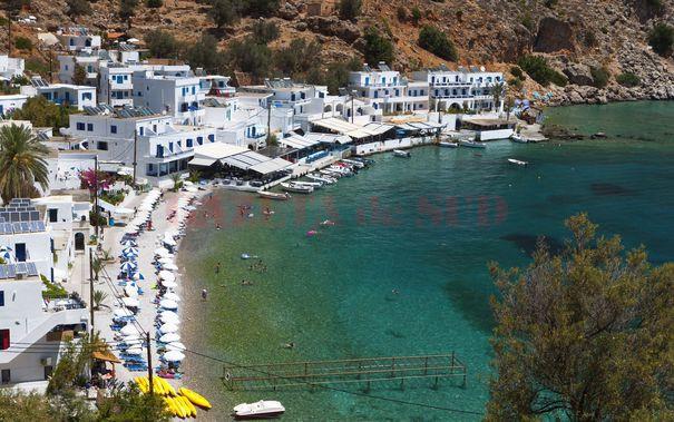 16299394 - loutro bay summer resort at crete island in greece