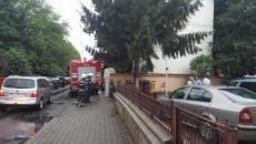 Pompierii au fost chemaţi să evacueze apa din Parchetul Judeţean