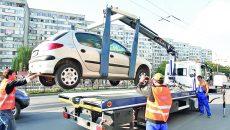 Autovehiculele vor fi ridicate doar pe patru roți
