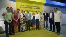 Membrii Rotary Craiova Probitas, care au contribuit la modernizarea ambulatoriului,  alături de medici