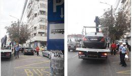 Ieri au fost ridicate mai multe mașini parcate în stațiile de autobuz sau pe trecerile de pietoni