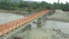 Puntea construită peste râul Jiu, la Turcineşti