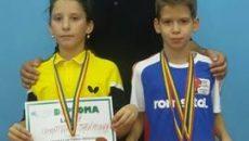 Antrenorul Liviu Nicoli este mulţumit de rezultatele sportivilor Carmina Găman  şi Patrick Anghel