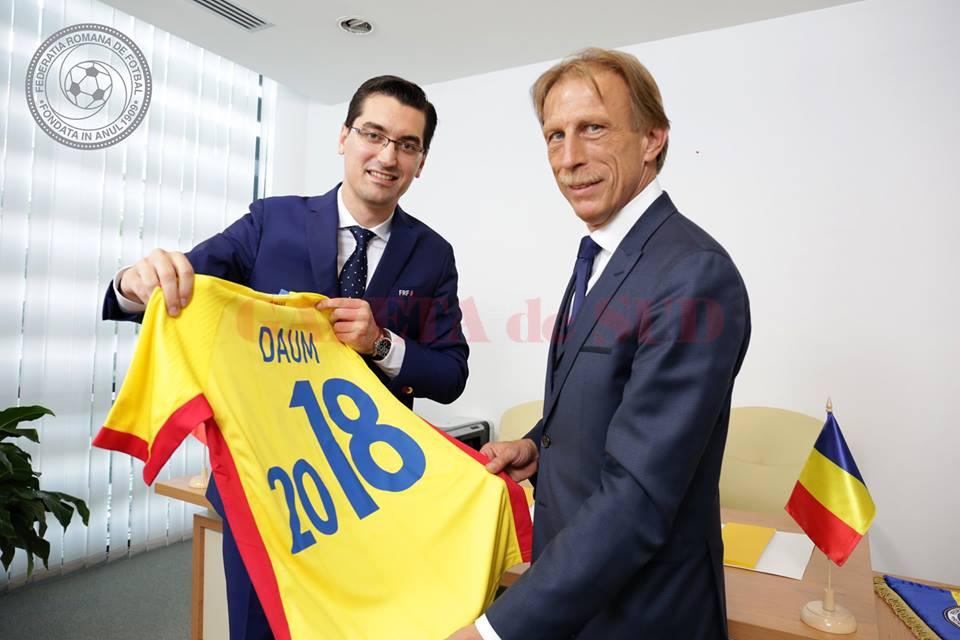 Răzvan Burleanu a dat-o în bară cu numirea lui Daum la timona naționalei României (Foto: frf.ro)