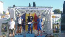 La proba de sprint, craiovenii, antrenaţi de Emilian Minoiu (foto stânga) au acaparat  podiumul. Roman Ciobanu a ocupat primul loc, Ionuţ Zinca s-a clasat pe locul doi, iar George Minoiu a luat medalie de bronz