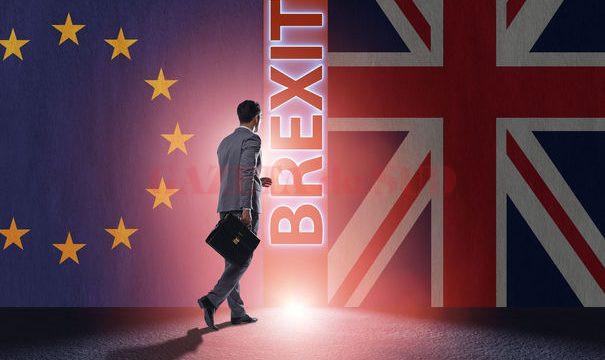 70136224 - businessman in brexit concept - uk leaving eu