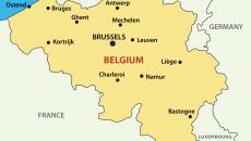 BelgiumMapwithCities