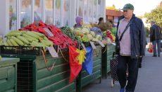 Ieri s-au vândut în Piaţa Centrală din Craiova produse cu drapelul ţării noastre (Foto: Lucian Anghel)