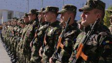 """""""Scorpionii albaștri"""" au stat șase luni în Polonia, unde au făcut parte din batalionul multinațional NATO condus de Statele Unite"""
