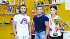 Costel Torcea este mândru de Maria Onea și are mare încredere că Sebastian Pană (stânga) va aduce multe medalii (Foto: Alexandru Vîrtosu)