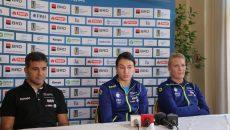 Martin Ambros, Cristina Neagu și Crina Pintea au vorbit despre Trofeul Carpați și Campionatul Mondial (foto: Lucian Anghel)
