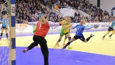 Zeljka Nikolic a contribuit din plin la victoria Craiova. Ea a marcat opt goluri (foto: Lucian Anghel)