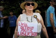 Protest la Palatul Cotroceni (Foto: Mediafax)