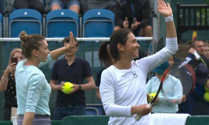 Simona Halep și Raluca Olaru au făcut pereche bună la Eastbourne (Foto: digisport.ro)