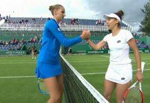 Mihaela Buzărnescu (în alb) nu a reuşit să o învingă niciodată pe tenismena cehă, deşi a înfruntat-o de 4 ori (Foto: digisport.ro)