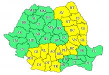 Cod galben de ploi în toată Oltenia