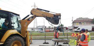Tel Drum a început reparaţiile pe strada Râului