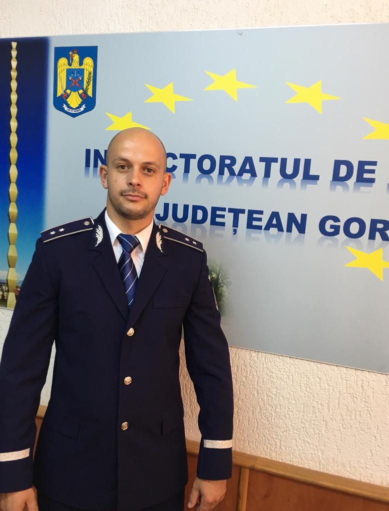 Fost luptător în trupele speciale, noul purtător de cuvânt al IPJ Gorj