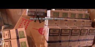 Potrivit anchetatorilor, în garajul principalului suspect au fost găsite aproape 27.000 de pachete de ţigări de contrabandă.