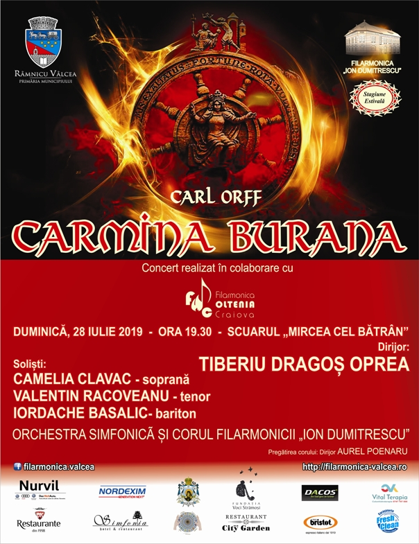 """Concertul vocal-simfonic susţinut de orchestra simfonică a Filarmonicii """"Ion Dumitrescu"""" cu lucrarea """"Carmina Burana"""""""