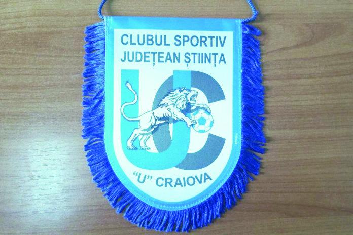 Sigla grupării CSJ Ştiinţa U Craiova (Foto: Alex Vîrtosu)