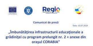 Îmbunătăţirea infrastructurii grădiniţei nr. 2 Corabia