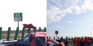 Accident grav pe Autostrada A2
