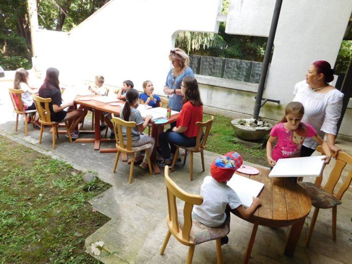 Micuții au participat la un atelier de pictură