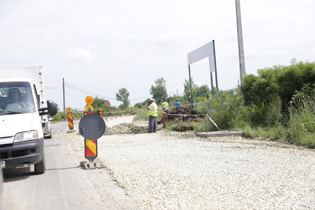 Drumul de Cârcea, în lucru