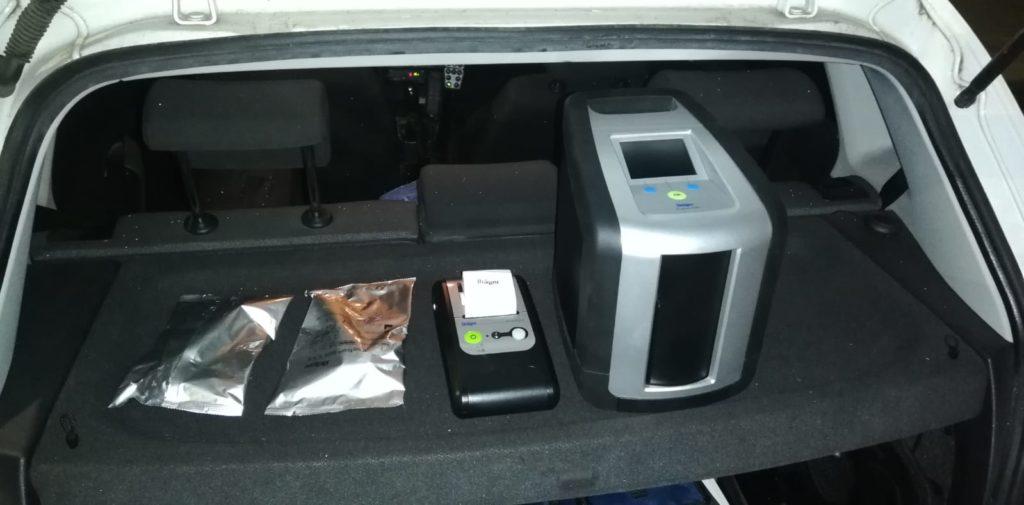 Inspectoratul de Poliție Județean Mehedinţi are în dotare două aparate marca Drager, model Drug Test 5000