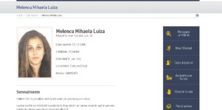Ultima persoană dispărută din judeţul Dolj, potrivit Poliţiei Române, este Mihela Melencu