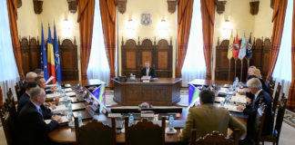 Preşedintele Iohannis la şedinţa CSAT (Foto: Administraţia Prezidenţială)