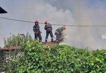 Incendiu la o casă din Craiova