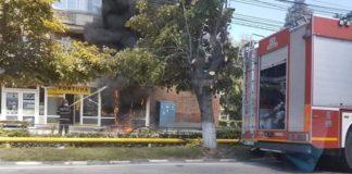 Incendiu într-un magazin din Balş