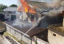 Puternic incendiu la o casă din Orleşti
