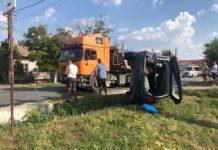 Accident rutier într-o localitate din Vâlcea