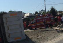 Accident rutier pe DN 65. Traficul a fost blocat