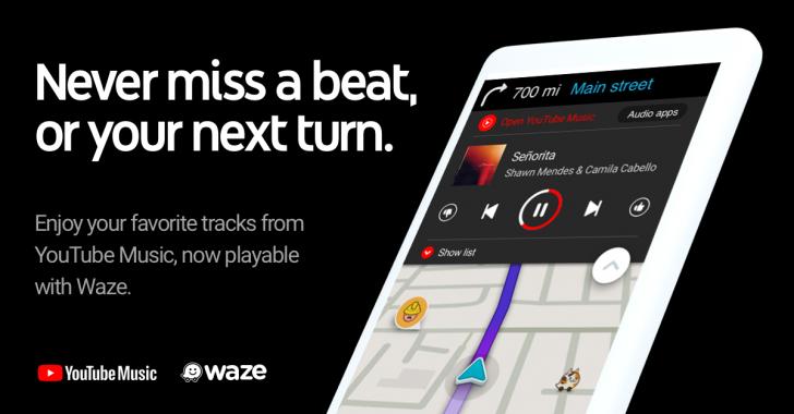 Waze primeşte YouTube Music