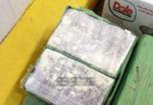 Droguri găsite în cutiile de banane