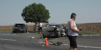 Accident uriaș lângă Buzău. Patru oameni sunt în spital