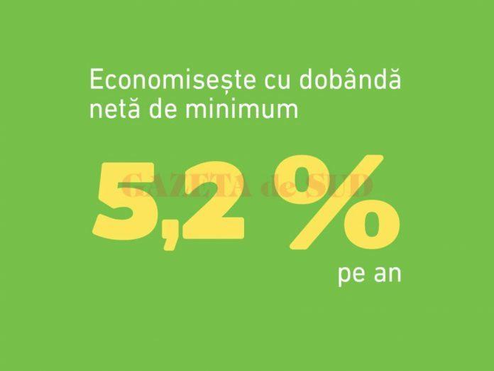 ECONOMISIRE CU DOBANDĂ NETĂ DE 5,2%