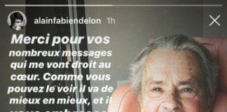 Prima fotografie cu actorul Alain Delon după accidentul vascular cerebral
