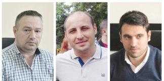 Marcel Tănăsescu (stânga) - administratorul SC RAT SRL, Alin Mărăcine - administratorul SC Pieţe şi Târguri SRL şi Mihai Butari - administratorul SC Salubritate SRL vor avea un salariu net de 9.734 de lei