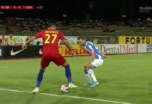 Gikiewicz (la minge) nu a impresionat şi a fost înlocuit în repriza a doua cu Gnohere Foto: telekomsport.ro