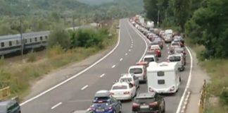 Coloane de mașini de câțiva kilometri de DN1, pe Valea Prahovei